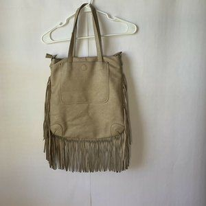Moda Luxe Leather Fringe Handbag